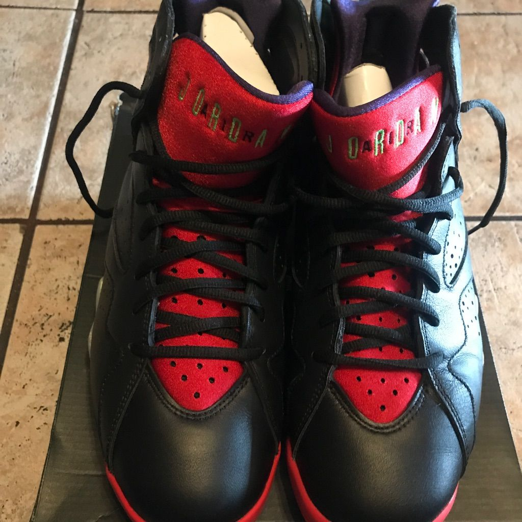 Nike Air Jordan 7 Retro Marvin The Martian Color Black Size
