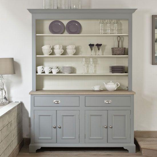 Kitchen Dresser kitchen dresser moonstone grey mix a painted dresser in a white kitchen 24cm Copper Tri Ply Stockpot