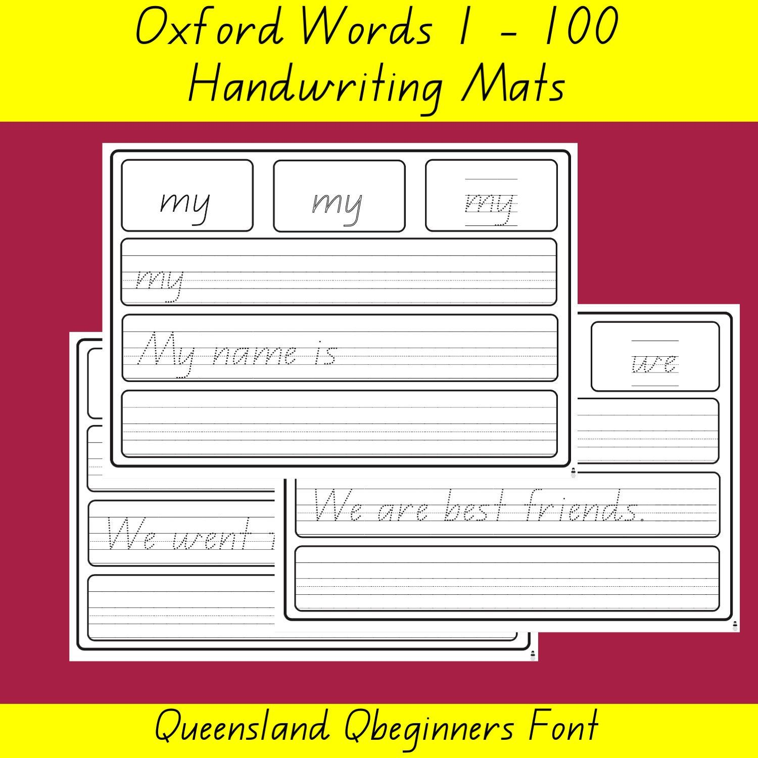 Oxford 100 Word List Queensland Qld Font Writing Word Mat List Home Online Learning Handwriting Writing Words Word List Word Practice [ 1500 x 1500 Pixel ]