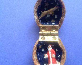Miniature Deer in a Walnut Shell Folk Art Diorama от jhan19414141