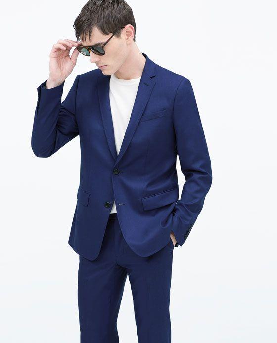 veste classique mode homme pinterest costume bleu zara homme et classique. Black Bedroom Furniture Sets. Home Design Ideas