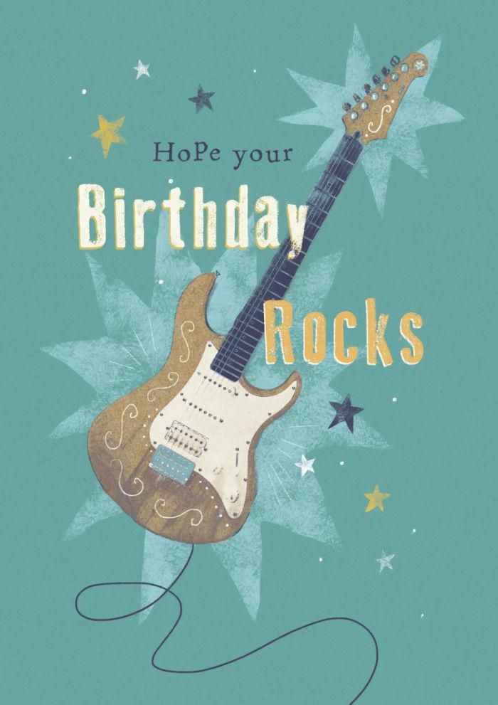 Happy Birthday Music Rock Guitar With Images Happy Birthday