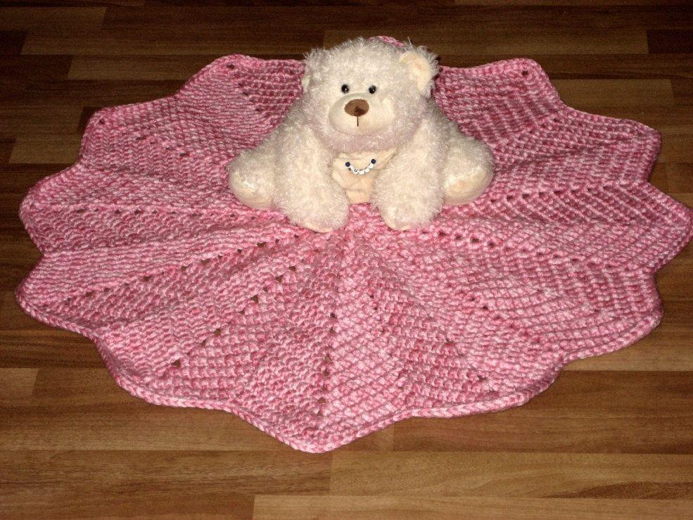 Crochet Round Baby Blanket Pattern Knitting Embroidery Crochet