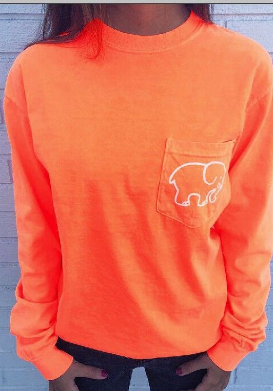 2bc9a5903 Orange Ivory Ella Berry Paisley Elephant Pocket Print Long Sleeve Cute  Casual Sweatshirt