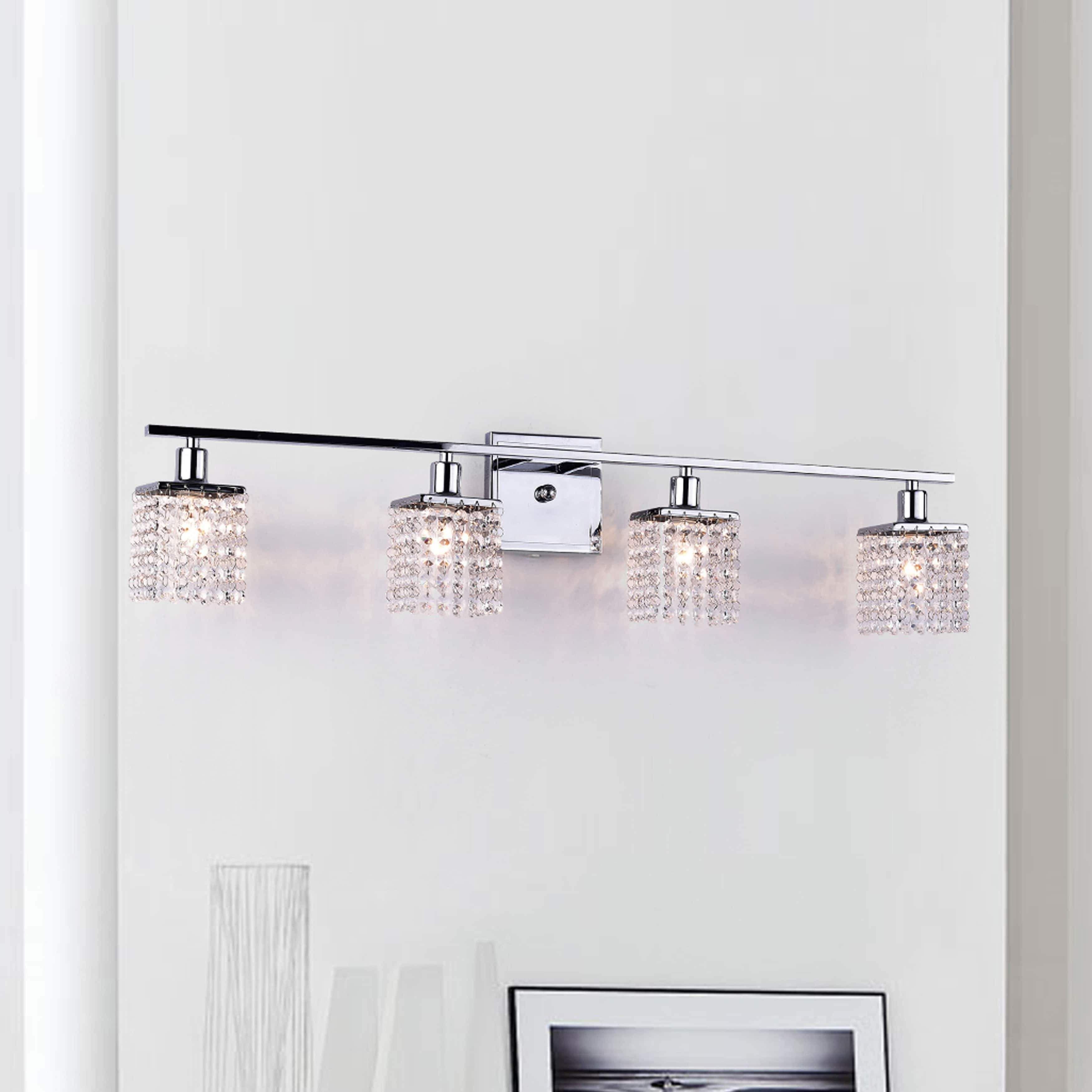 Four Light Chrome Crystal Wall Sconce Design Me Instadaily