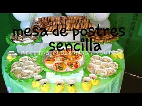 MESA DE POSTRES SENCILLA / IDEAS PARA BABY SHOWER   Recetas De Aleliamada.    YouTube