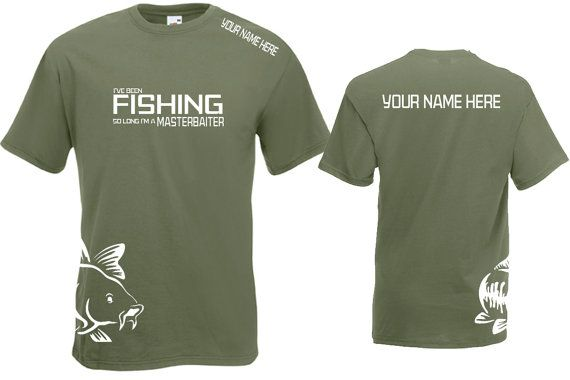 676cd91e Personalised Fishing T-Shirt Masterbaiter TShirt Funny Tshirt Father's Day Carp  Fishing Sea Fishing Course Fishing Fly Fishing Like the simple graphics ...