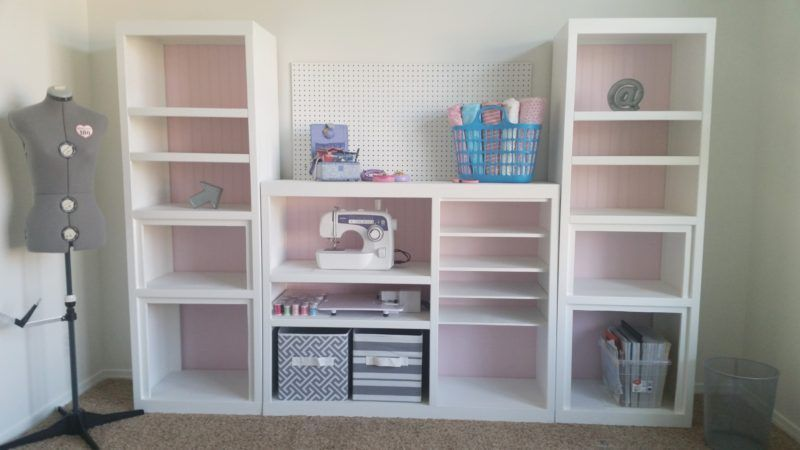Diy Craft Room Wall Storage Organizer Unit Furniture Makeover Project Tutorial From A 90s Oak Entertainment Center Craft Room Furniture Craft Room Ideas On A Budget Oak Entertainment Center