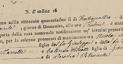 """Fortify Your Family Tree: The Italian Genealogy Goldmine: """"Wedding Packets"""""""