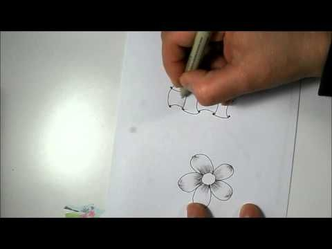 Shading with Pen or What I do with my old Microns - Zentangle Inspired, Doodle, Tangle Patterns - YouTube