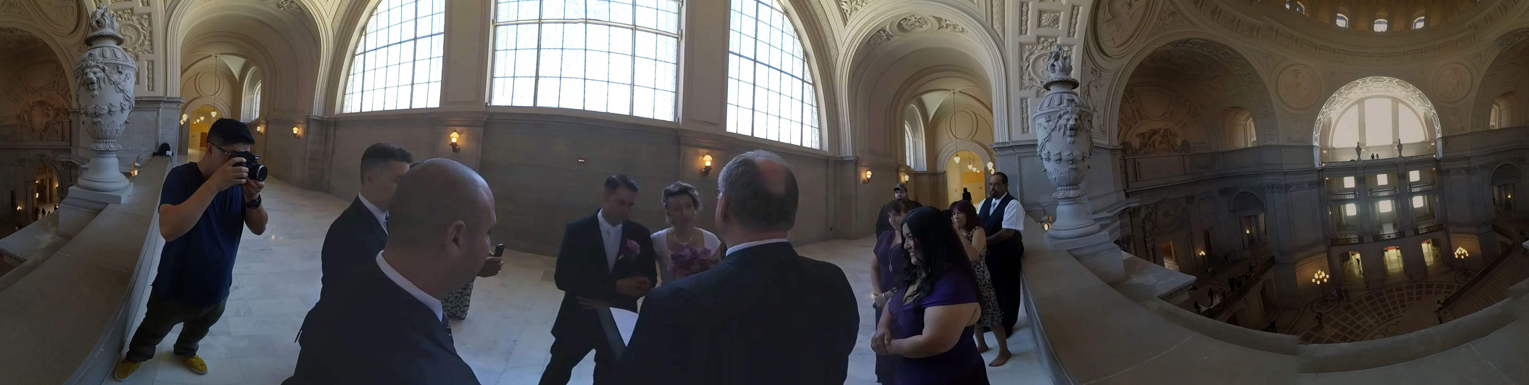 Your Daily VR Fix Today First VR Wedding at San Francisco City