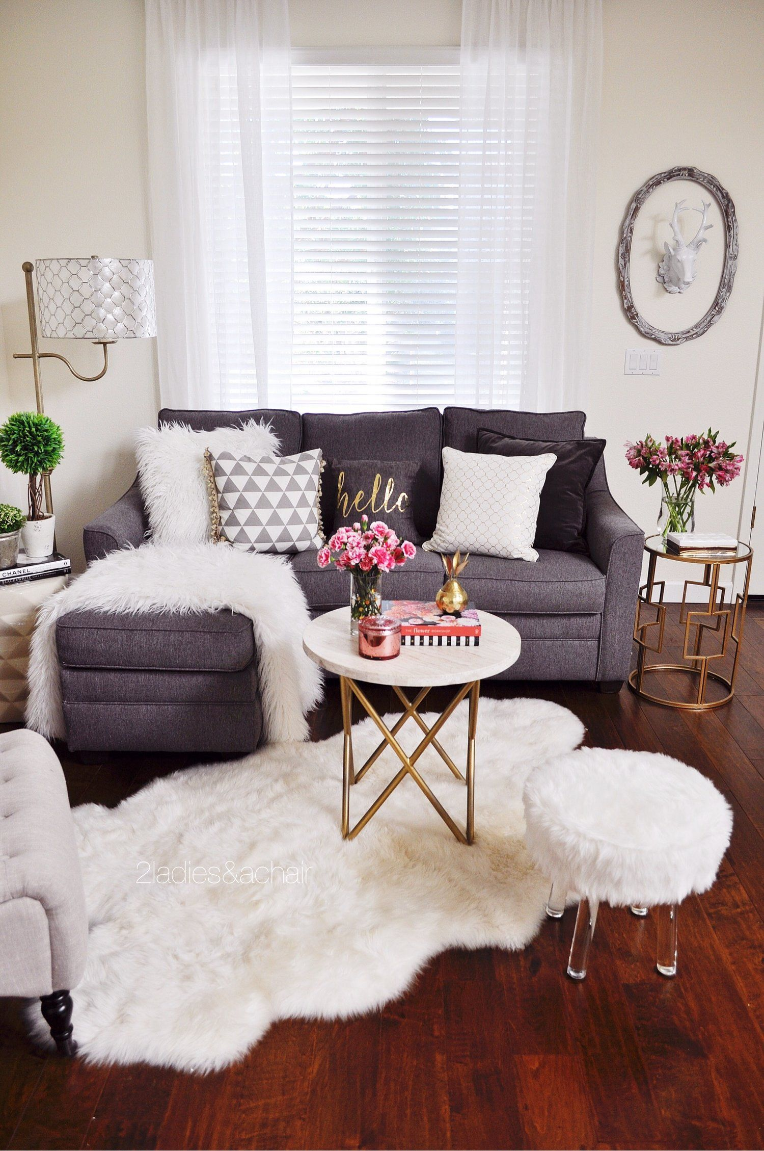 Light, Bright, and Cozy Decor Transitions from the Holiday Season — 2  Ladies & A Chair | Small apartment living room, Small living room decor, Apartment  living room