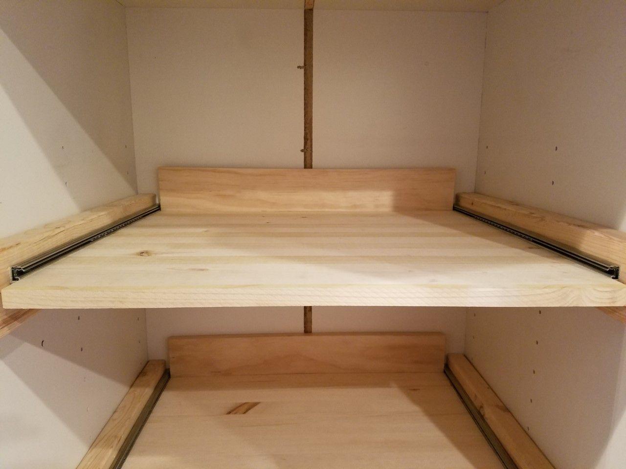 Diy sliding pantry shelves idyllic spaces diy pull out