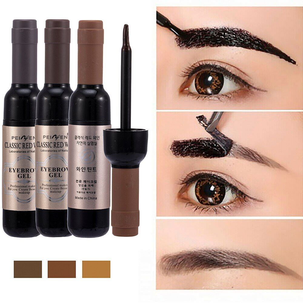 1 Pcs Eyebrow Gel Black Coffee Gray Peel Off Eye Brow