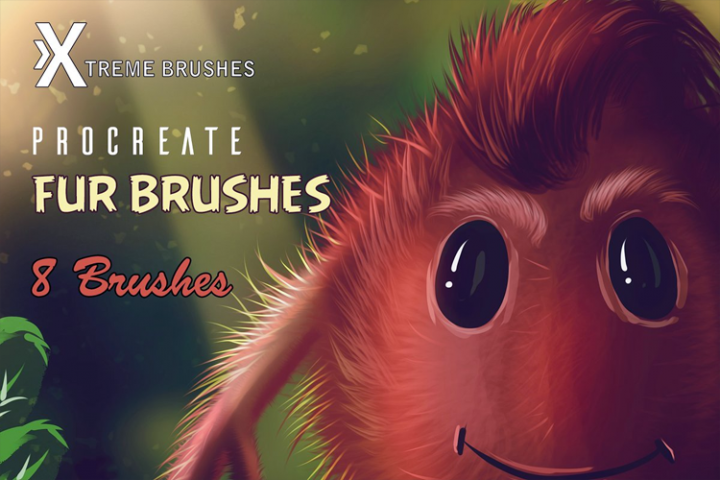 Procreate Fur Brushes in 2019 | Procreate Brushes, Tips