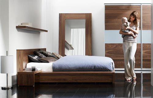 Roma Walnut Contemporary Bed: Limo Bed In Walnut Veneer From Boconcept Bedroom Furniture