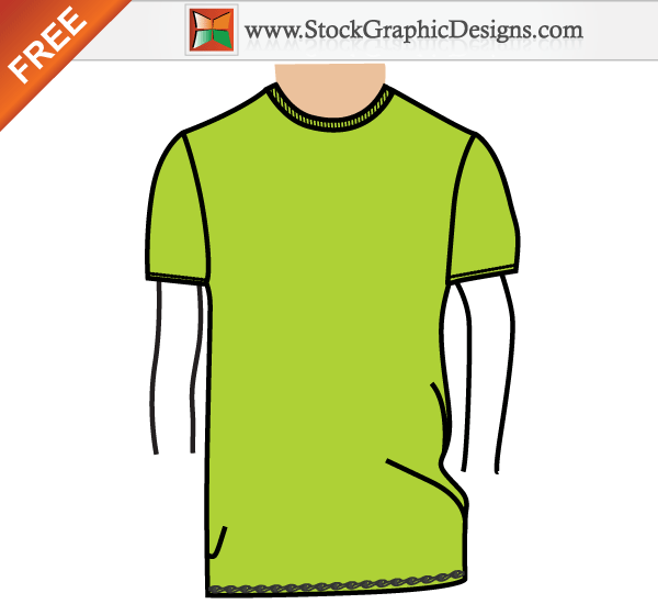 Free T Shirt Vector Template - Clipart &vector Labs :) •
