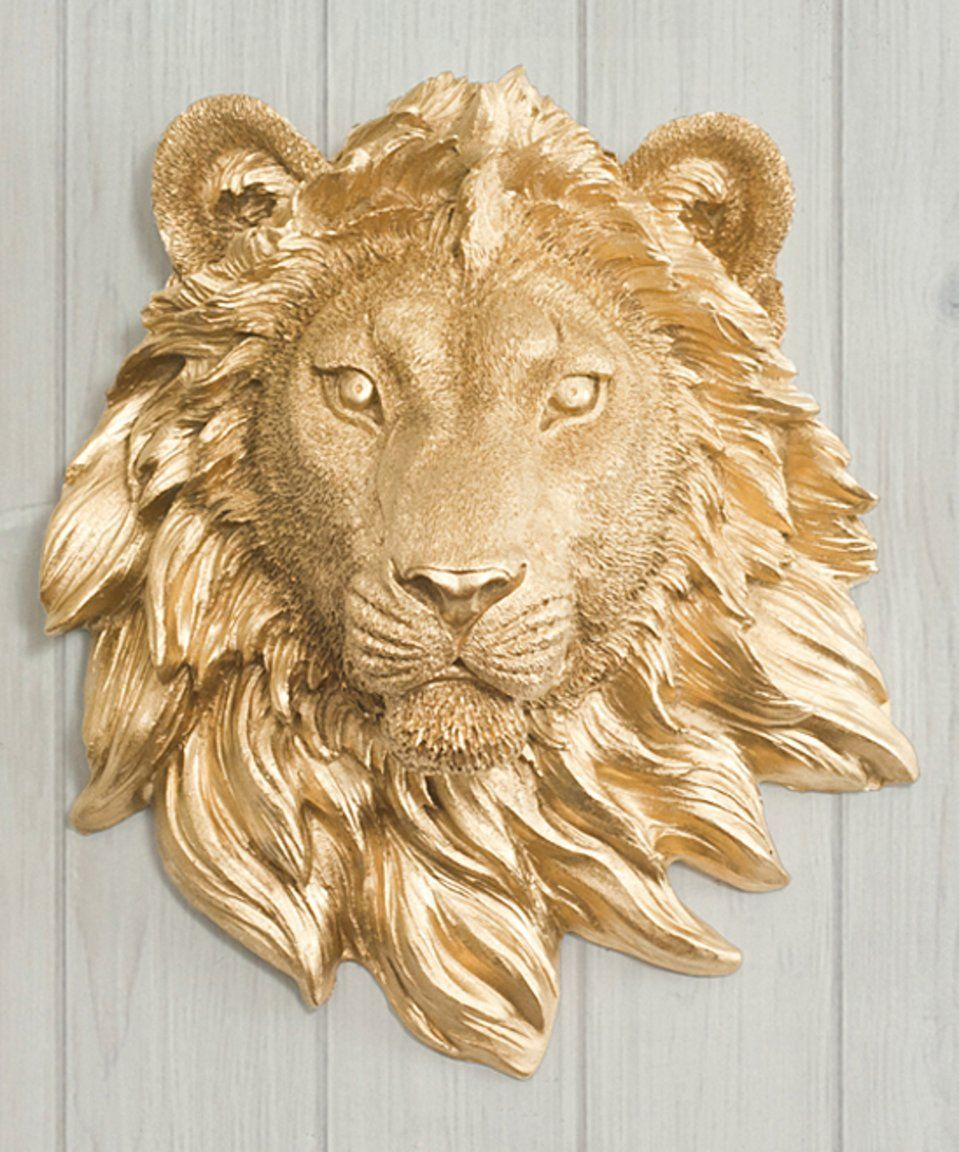 Take a look at this Gold The Sahara Mini Lion Head Wall Décor today ...