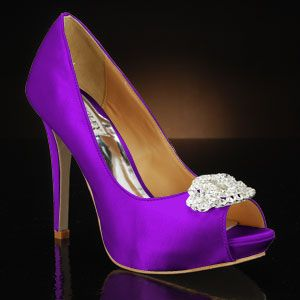 Goodie By Badgley Mischka Dye Any Color Shown Dyed Royal Purple