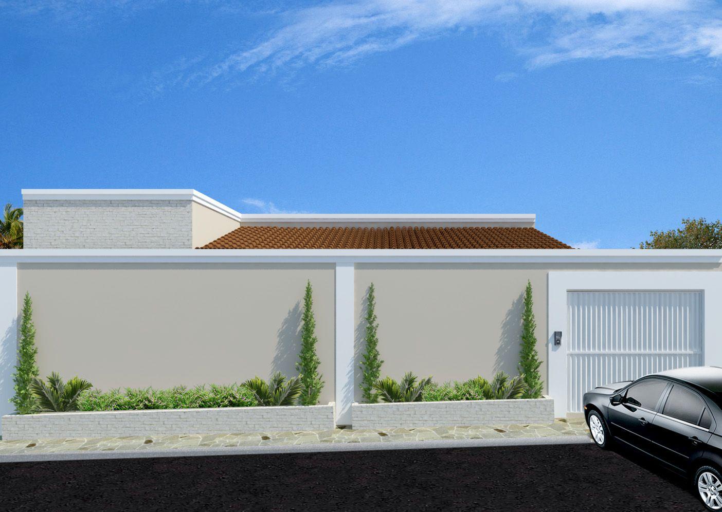 Fachadas de casas modernas com muros fotos fences gate for Fachadas modernas