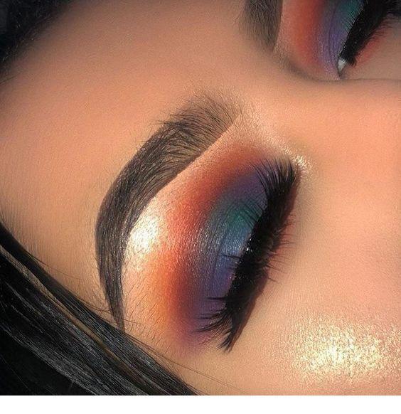 Cute evening eye makeup