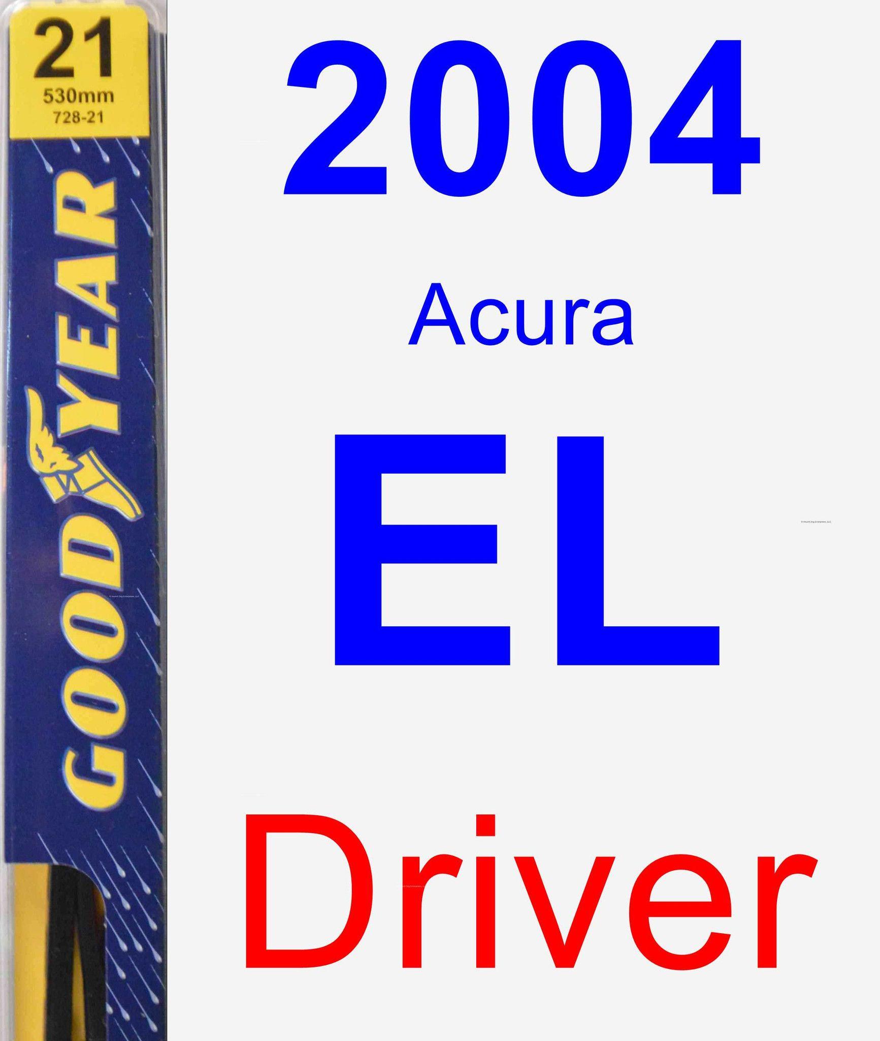 Driver Wiper Blade For 2004 Acura EL - Premium
