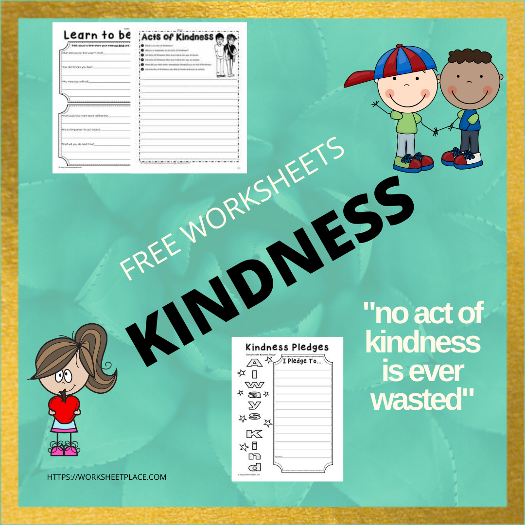 Kindness Worksheets In
