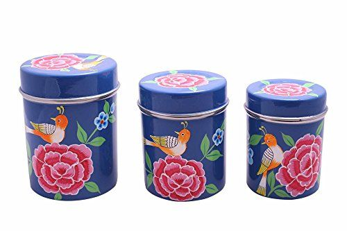 The Crazy Me Handpainted Blue Kitchen Boxes Set Of 3 Th Http