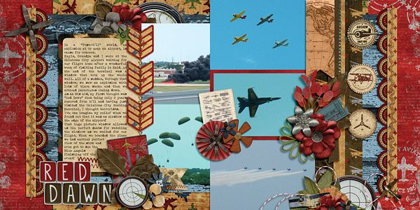 Red Dawn | AK Designs: Two Pager Pack 7; Wendy Tunison Designs: Gaining Altitude; Wendy Tunison Designs: Me and My Shadow