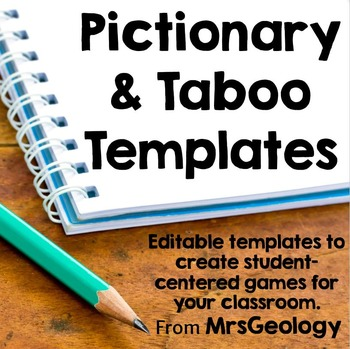 Editable Pictionary And Taboo Templates In 2021 Taboo Cards Taboo Pictionary