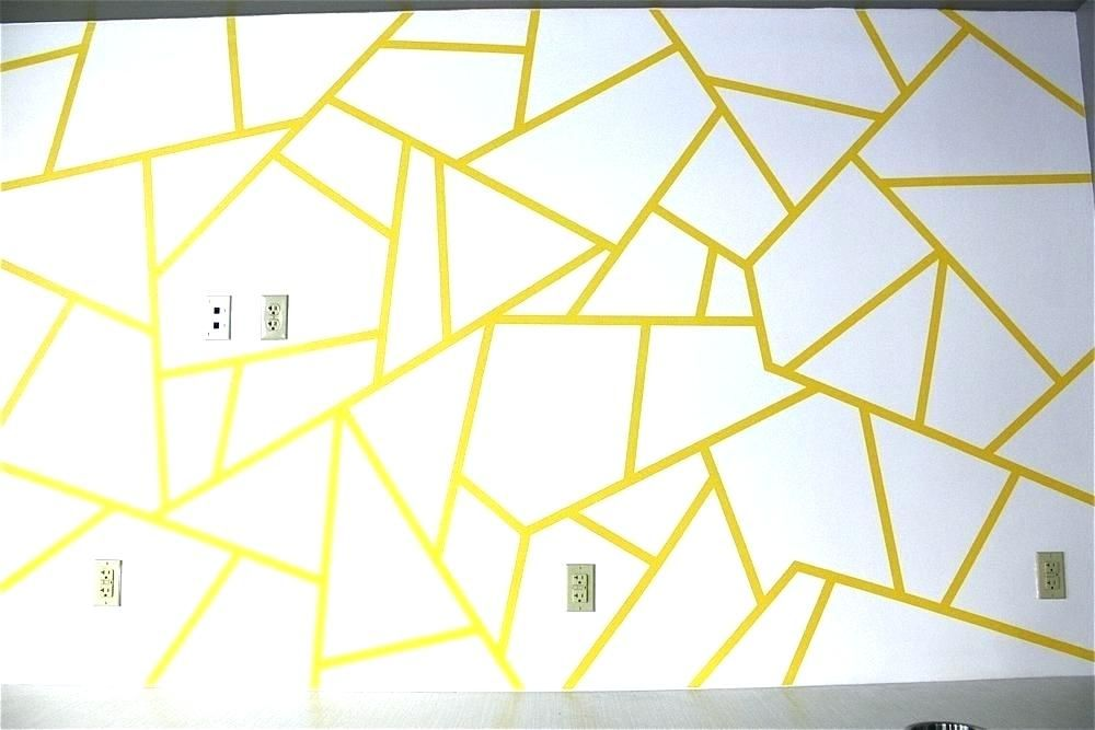 Painted Wall Designs Easy Painting Design Paint And This Geometric