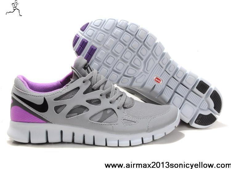 Sale Discount 472519-005 Shield Cool Grey Varsity Purple Womens Nike Free  Run 2 Fashion