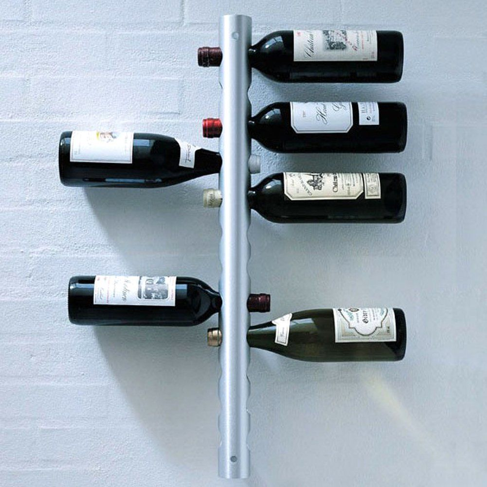 Aspire Wall Mounted Stainless Steel 12 Bottle Wine Rack Wall Mounted Wine Rack Wine Bottle Rack Wine Bottle Storage