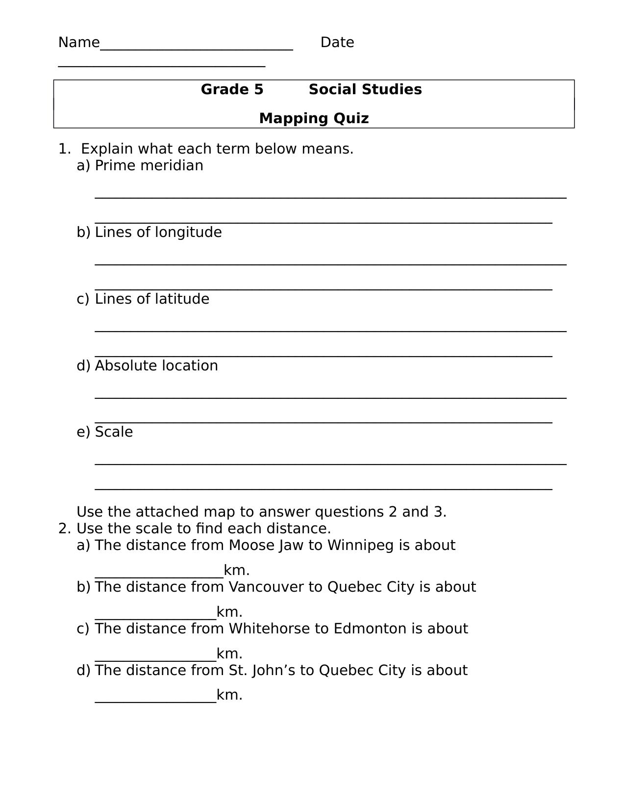 Latitude and Longitude Mapping Quiz - Ninja Plans   Quiz [ 1651 x 1275 Pixel ]
