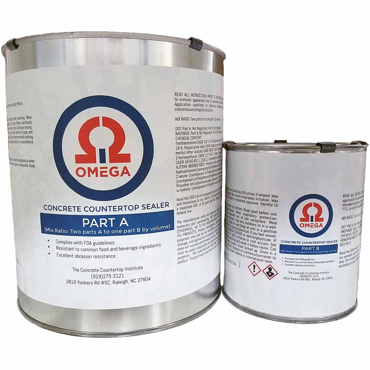 Omega Concrete Countertop Sealertm The Last Sealer You Ll Ever