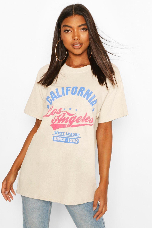 Tall 'California' Oversized T-Shirt | boohoo | Oversized tshirt ...