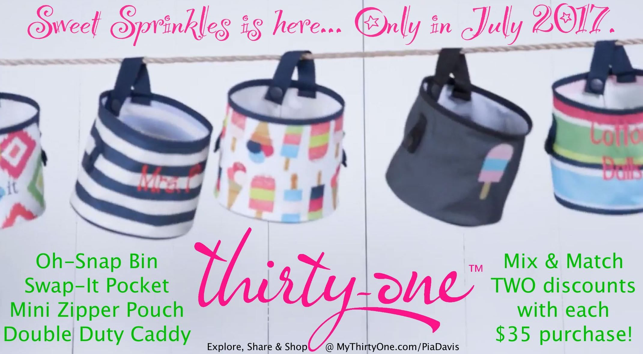 Oh snap bin ideas - Sweet Sprinkles From Thirty One Is Here But Only For July 2017 Oh