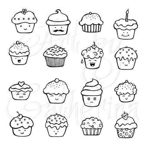 Déco Cupcake Note Dessins Faciles Dessin Cupcake Et