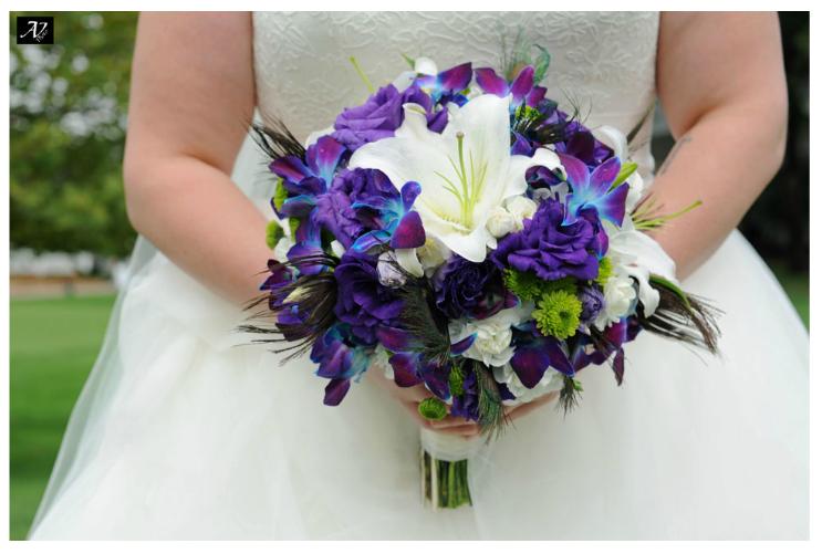 Diy Wedding Bouquet Ideas Purple And Peacock