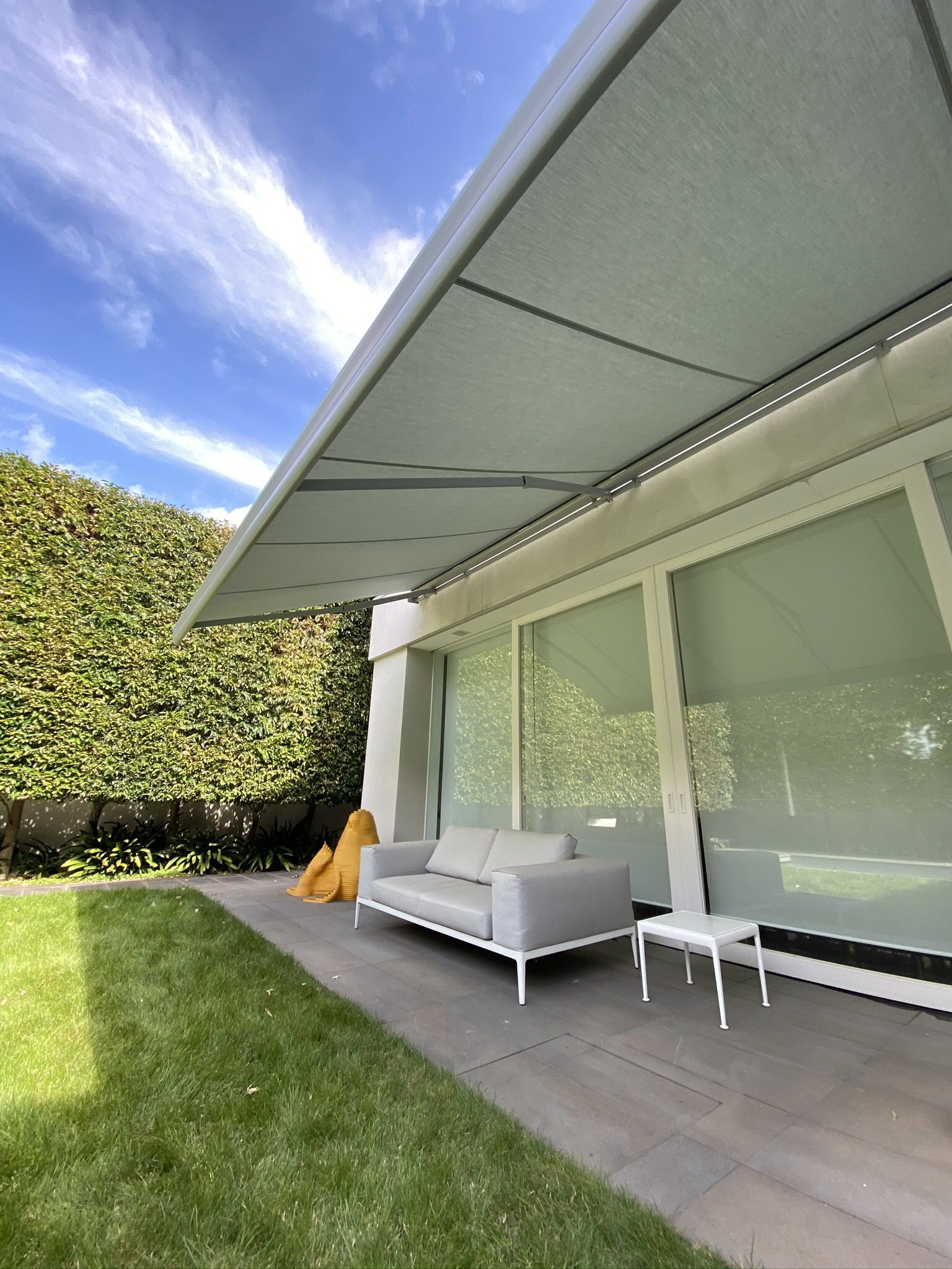 It S Beginning To Look A Lot Like Summer Experts In Folding Arm Awnings Since The 80 S Campbell Heeps Outdoor Awnings Outdoor Blinds Melbourne Architecture