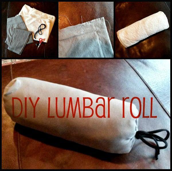 diy lumbar roll lower back support pillow