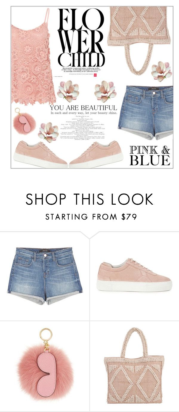 """""""Pink and blue flower child"""" by linda013 ❤ liked on Polyvore featuring J Brand, Axel Arigato, MICHAEL Michael Kors, Love Stitch and Hallhuber"""