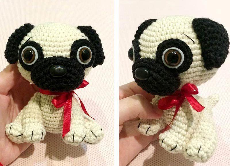 Baby Pug Dog Amigurumi Free Crochet Pattern | Baby pug dog ...