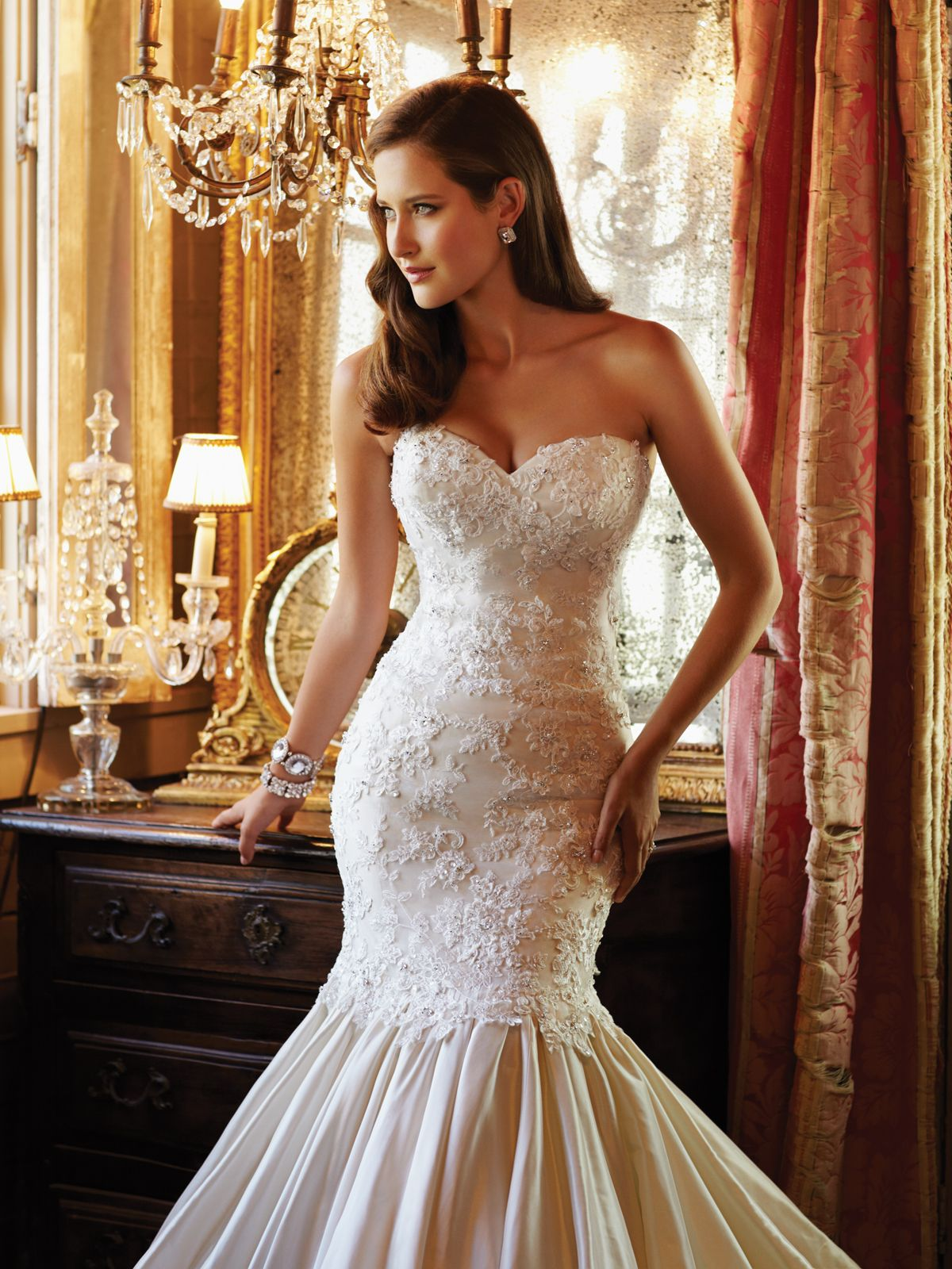 Sophia Tolli Bridal » Style No Y21378: Taffeta Lace Wedding Dress Look No At Reisefeber.org