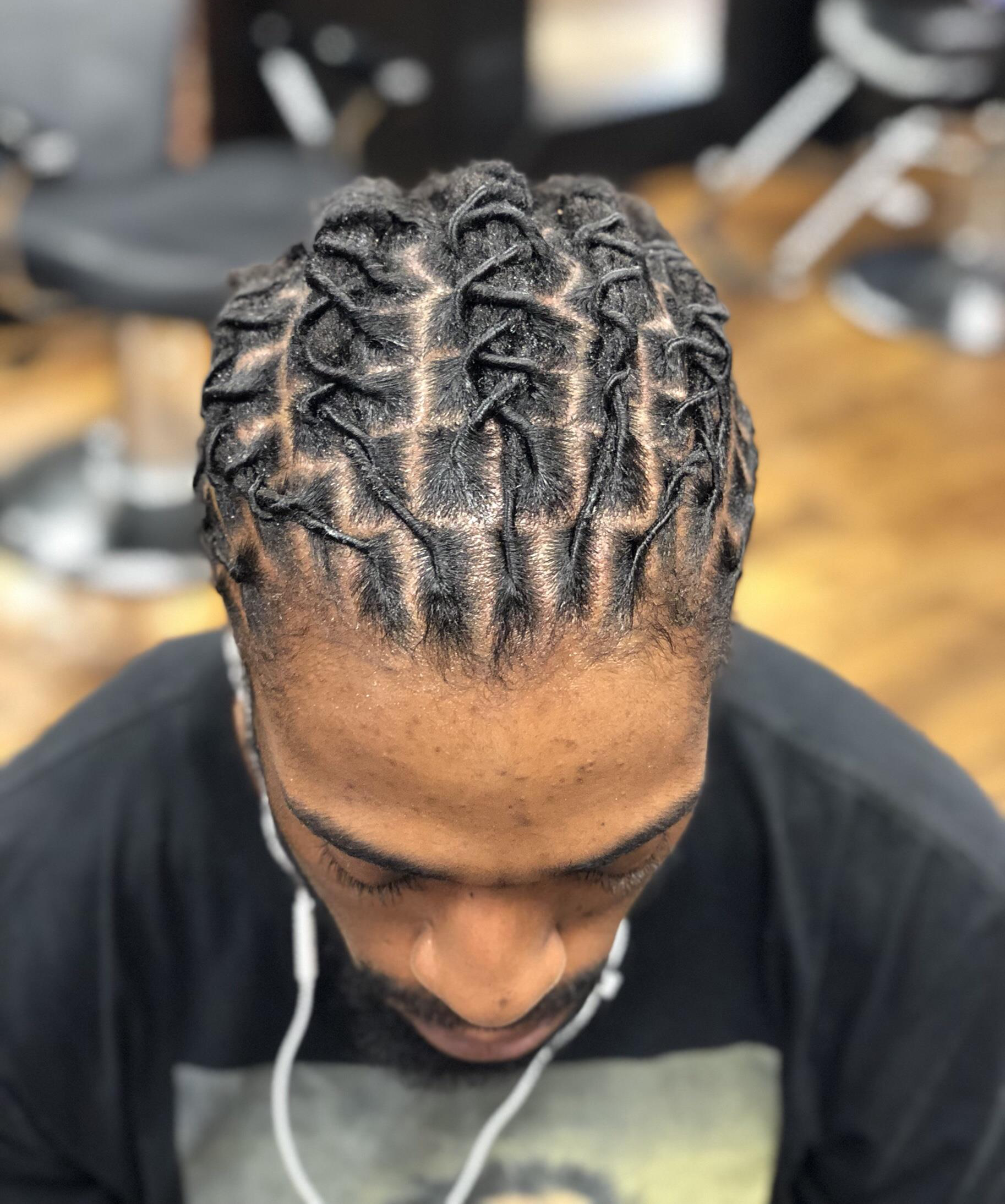 Locs Re Twist And Style 60 Retwist And Style Something Simple For Short Hair Starting Pric Hair And Beard Styles Mens Dreadlock Styles Gray Hair Beauty