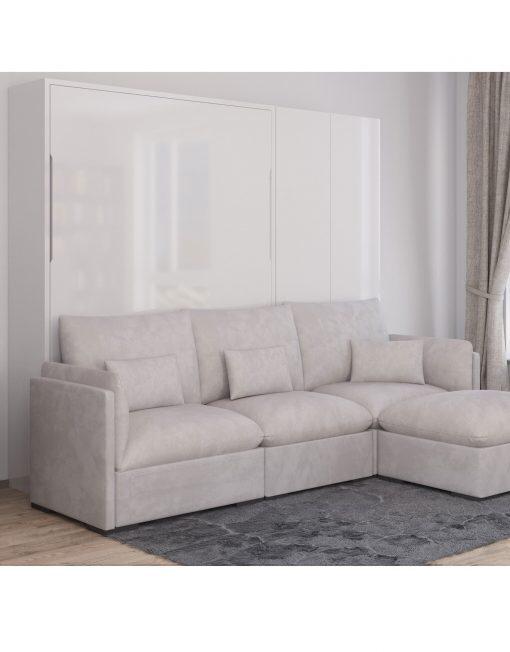 Best Murphysofa Adagio – Queen Luxury Sectional Sofa Wall Bed 640 x 480