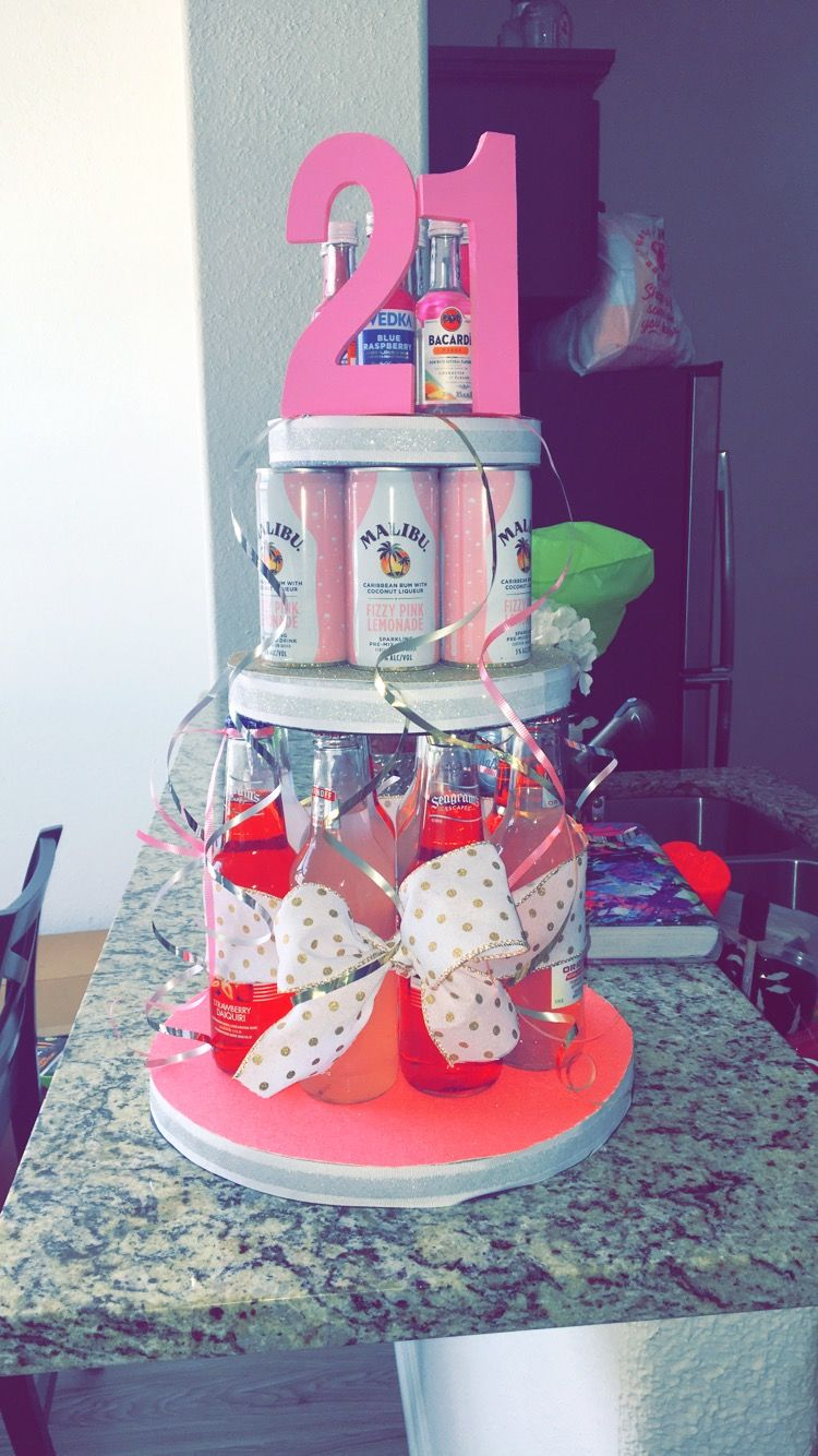 Diy 21st Birthday Alcohol Cake To Do List 21st