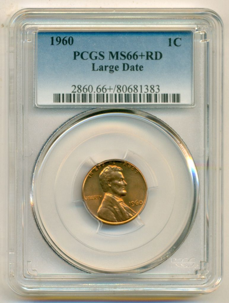1960 LD      PCGS    MS66 RED      LINCOLN  1c