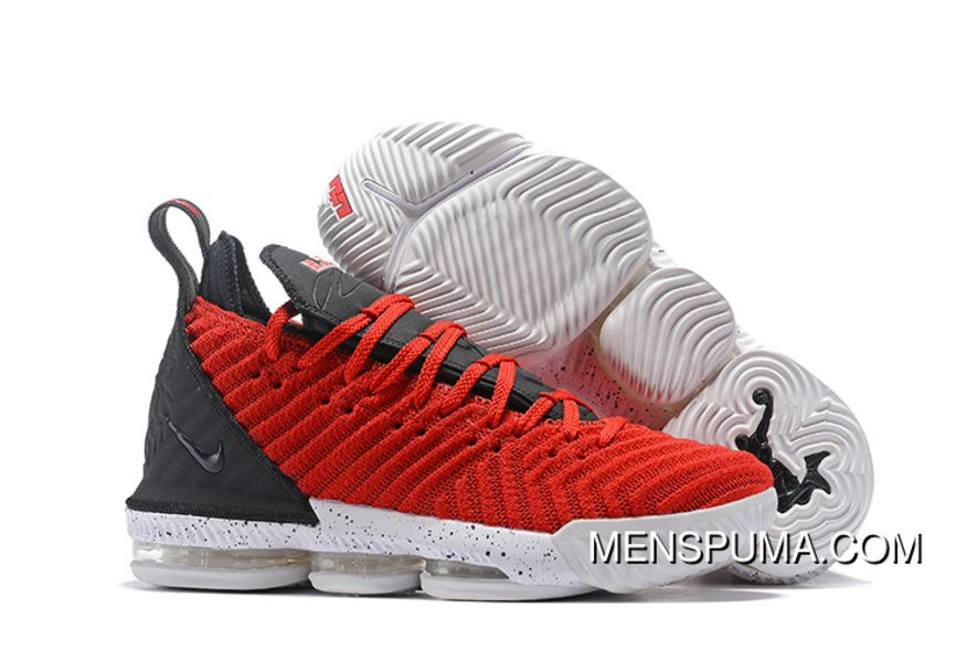 new style d2ab0 6f808 2018 New Nike Lebron 16 Red Black White Womens Mens ...