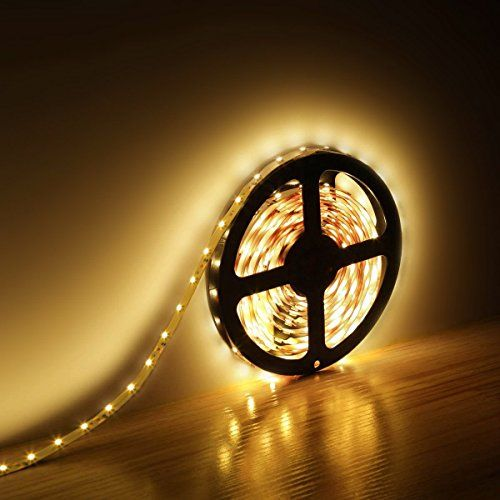 Le 12v Flexible Led Strip Lights Kit Led Tape 3000k Warm White 300 Units Smd 3528 Leds 73 Lumens Ft Non Waterproof 12 Volt Led Light Strips Pack Of 16 4 Strip Lighting